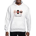 Peace Love Psychology Hooded Sweatshirt