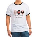 Peace Love Psychology Ringer T