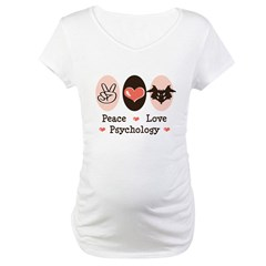 Peace Love Psychology Maternity T-Shirt