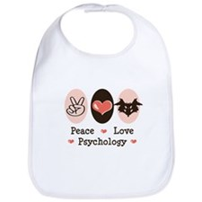 Peace Love Psychology Bib