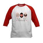 Peace Love Psychology Psychologist Kids Baseball J