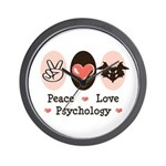 Peace Love Psychology Wall Clock