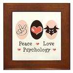 Peace Love Psychology Psychologist Framed Tile