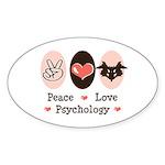 Peace Love Psychology Oval Sticker (50 pk)