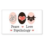 Peace Love Psychology Rectangle Sticker 10 pk)