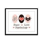 Peace Love Psychology Framed Panel Print