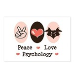 Peace Love Psychology Postcards (Package of 8)