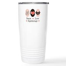 Peace Love Psychology Travel Mug