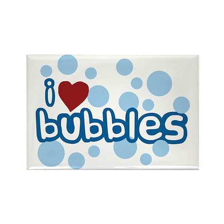 I Love Bubbles Rectangle Magnet (100 pack)