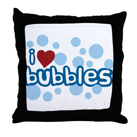 I Love Bubbles Throw Pillow