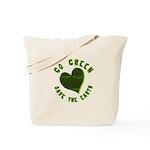 Go Green Save the Earth Reusable Tote Bag