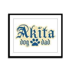 Akita Dad Framed Panel Print