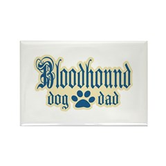 Bloodhound Dad Rectangle Magnet (100 pack)