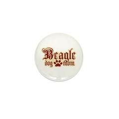Beagle Mom Mini Button (100 pack)