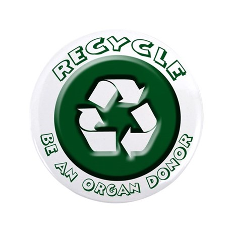 "Recycle 3.5"" Button (100 pack)"