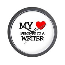 My Heart Belongs To A WRITER Wall Clock