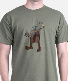 Dancing Man-copper T-Shirt