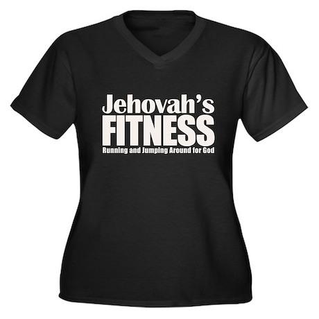 Jehovah's Fitness Women's Plus Size V-Neck Dark T-