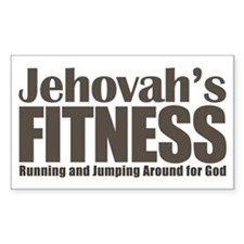 Jehovah's Fitness Rectangle Decal