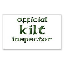 Official Kilt Inspector Rectangle Decal