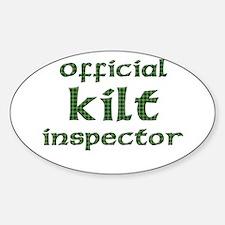 Official Kilt Inspector Oval Decal