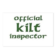 Official Kilt Inspector Postcards (Package of 8)