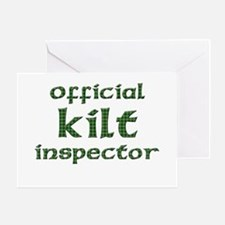 Official Kilt Inspector Greeting Card