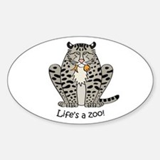 Fishing cat Oval Decal