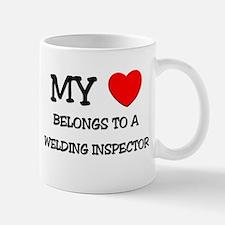 My Heart Belongs To A WELDING INSPECTOR Mug