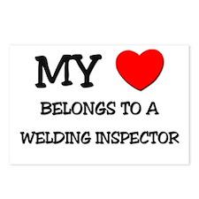 My Heart Belongs To A WELDING INSPECTOR Postcards