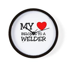 My Heart Belongs To A WELDER Wall Clock