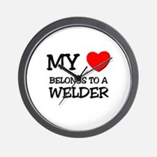 My Heart Belongs To A WELDER Wall Clock