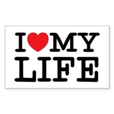 I (heart) My Life Rectangle Decal