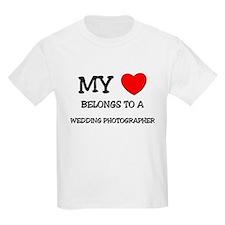 My Heart Belongs To A WEDDING PHOTOGRAPHER T-Shirt