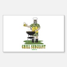 Grill Sergeant Rectangle Decal