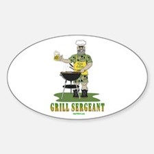 Grill Sergeant Oval Decal