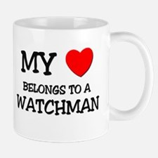 My Heart Belongs To A WATCHMAN Mug