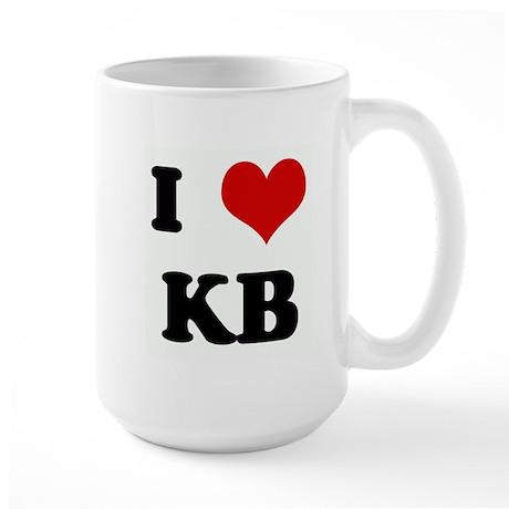I Love KB Large Mug