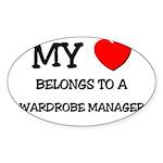 My Heart Belongs To A WARDROBE MANAGER Sticker (Ov