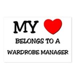 My Heart Belongs To A WARDROBE MANAGER Postcards (