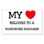 My Heart Belongs To A WARDROBE MANAGER Sticker (Re