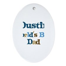 Dustin - Best Dad Oval Ornament