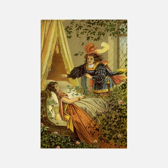Vintage Sleeping Beauty Rectangle Magnet (100 pack