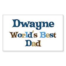 Dwayne - Best Dad Rectangle Decal