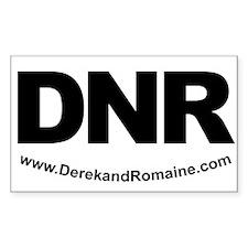 DNR Rectangle Decal