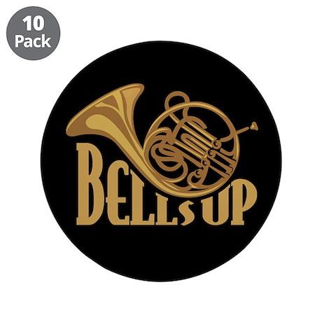 """Bells Up Horn 3.5"""" Button (10 pack)"""