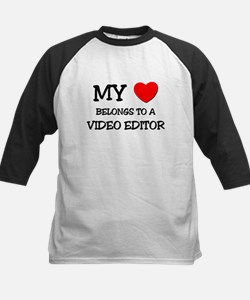 My Heart Belongs To A VIDEO EDITOR Tee