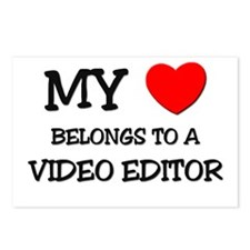 My Heart Belongs To A VIDEO EDITOR Postcards (Pack