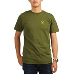 Olive Awareness Ribbon Organic Men's T-Shirt (dark