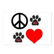 Dogs: Peace, Love & TLC Postcards (Package of